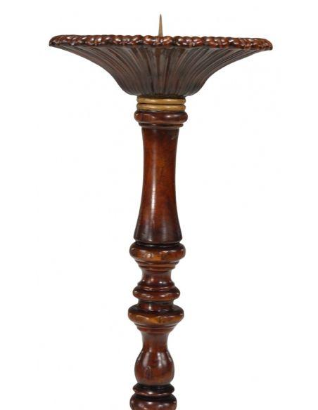 Decorative Accessories High Quality Furniture Candlestand in Medium Walnut