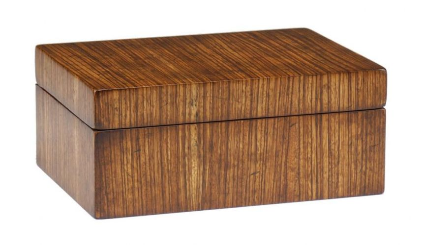 Decorative Accessories Home Accessories Luxurious Home Accents and Decor Zebrano Veneer Box