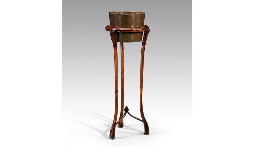 Decorative Accessories Home Accessories Luxurious Home Accents And Décor Tall Carved Walnut Planter