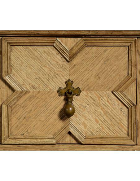 Light oak Tudor style sideboard buffet