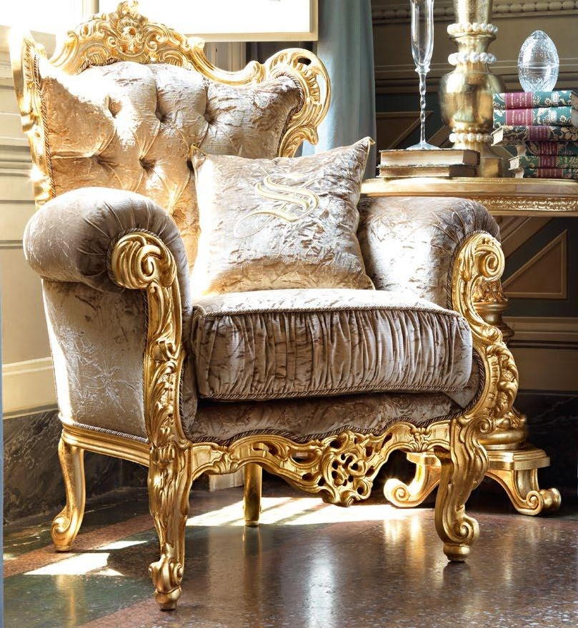 Tufted Upholstered Armchair