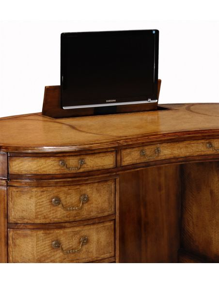 Executive Desks Desks Library & Office Furniture With Monitor Lift