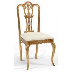 18th Century style Gilded Walnut Side Chair-30
