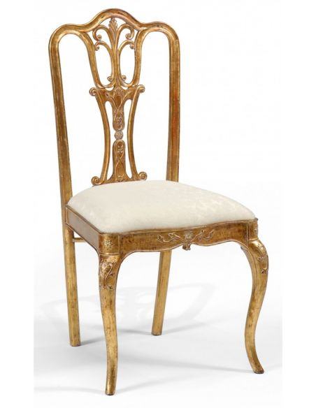 Dining Chairs 18th Century style Gilded Walnut Side Chair-30
