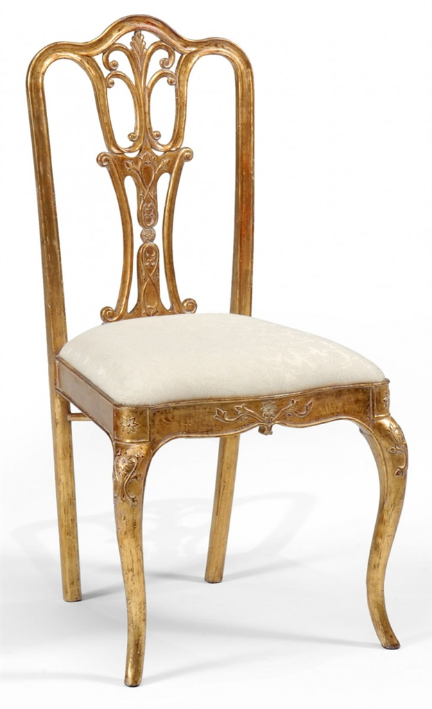 18th Century Style Gilded Walnut Side Chair 30
