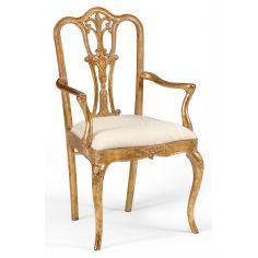 18th Century style Gilded Walnut Armchair-39