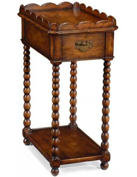 Square & Rectangular Side Tables Queen Anne style Small Side or Lamp Table-45