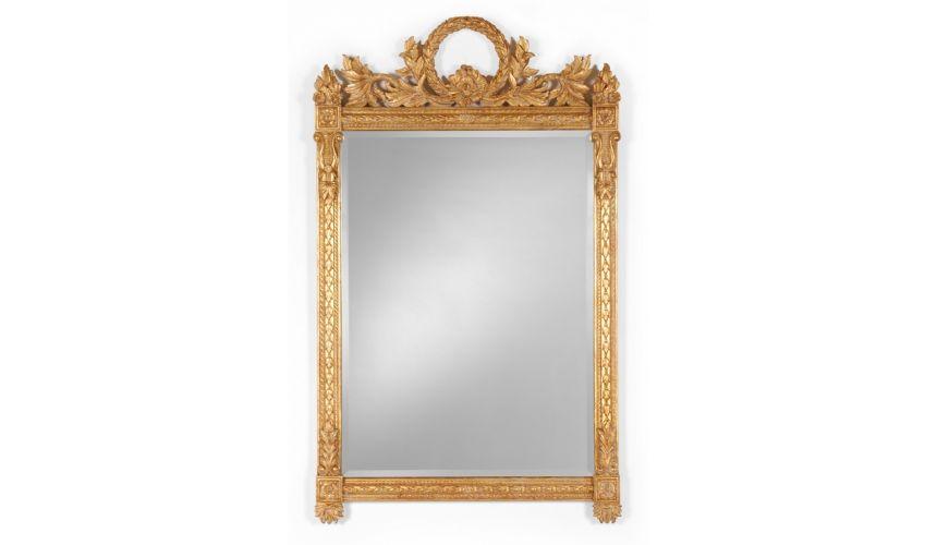Napoleonic style Gilded Rectangular Mirror-62
