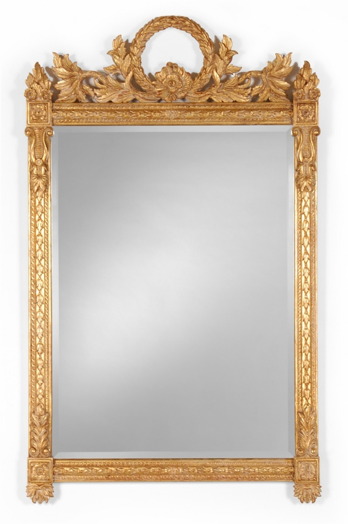 Napoleonic Style Gilded Rectangular Mirror