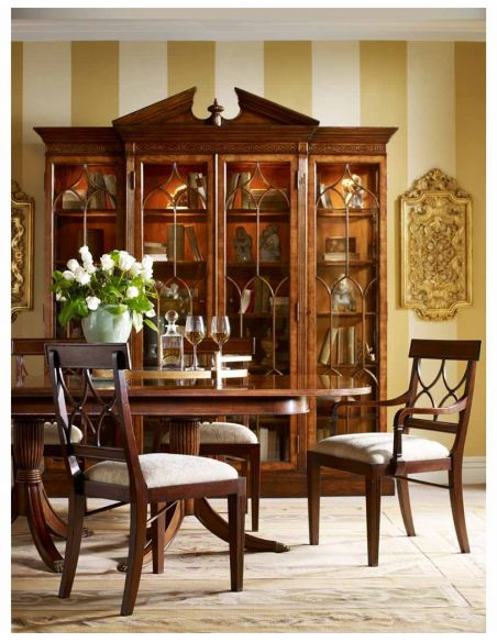 Breakfronts & China Cabinets George II style China Display Cabinet-75