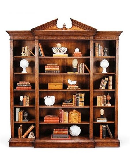 Bookcases Library bookcase display cabinet armories - fine furniture