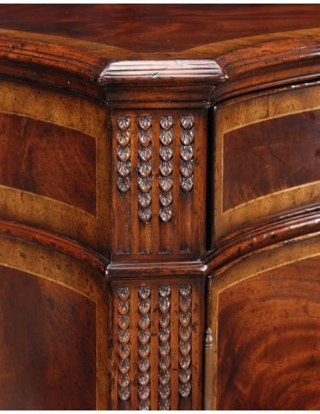 Breakfronts & China Cabinets Chest Of Drawers Mahogany Sideboard with fine hand made hardware and hand carving