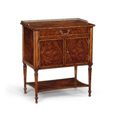 Chest Of Drawers Mahogany Night Stand with a phone and MP3 charger inside