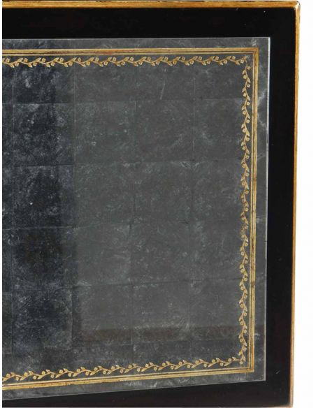 Rectangular and Square Coffee Tables Decorative Hand Painted Black Coffee Table-100