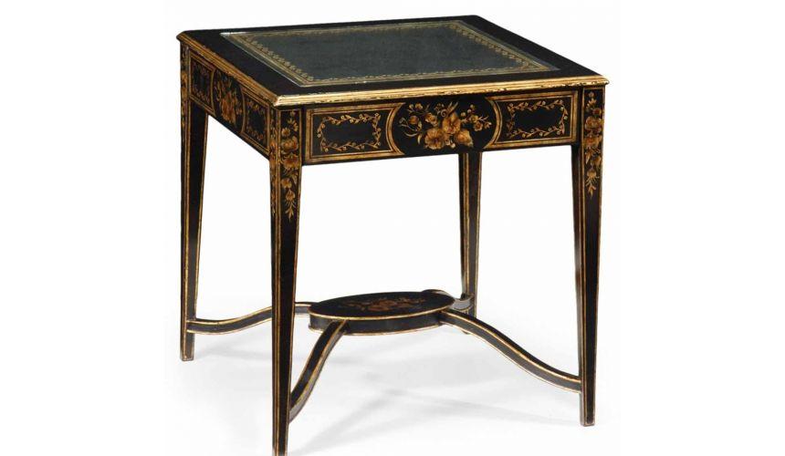 Square & Rectangular Side Tables Decorative Black Square Side Table-01