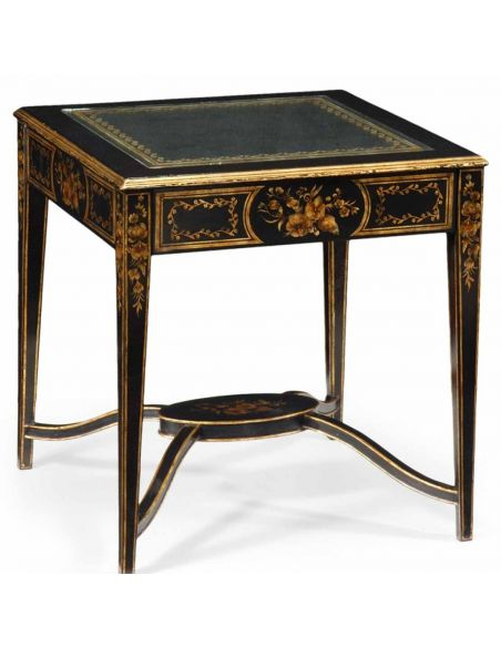 Square & Rectangular Side Tables Decorative Black Square Side Table-01