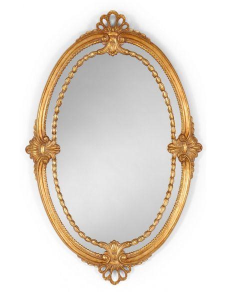 Elegant Adam style Oval Gilded Mirror-07
