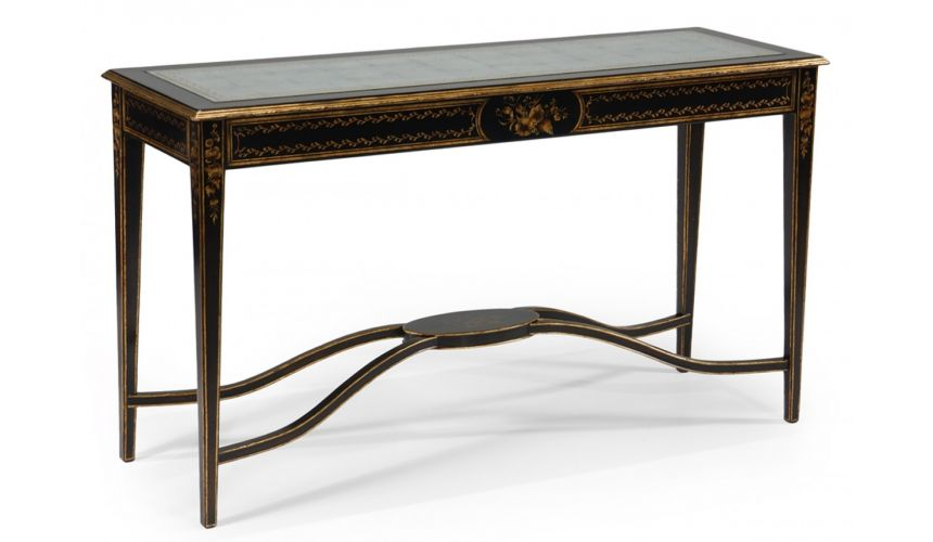 Console & Sofa Tables Gilt Rectangular Console Table-09