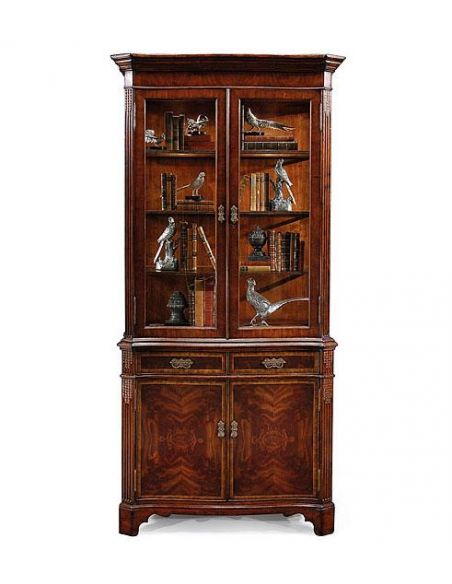 Breakfronts & China Cabinets Display Cabinets & Armoires Cabinet China Cabinet with two interior lights