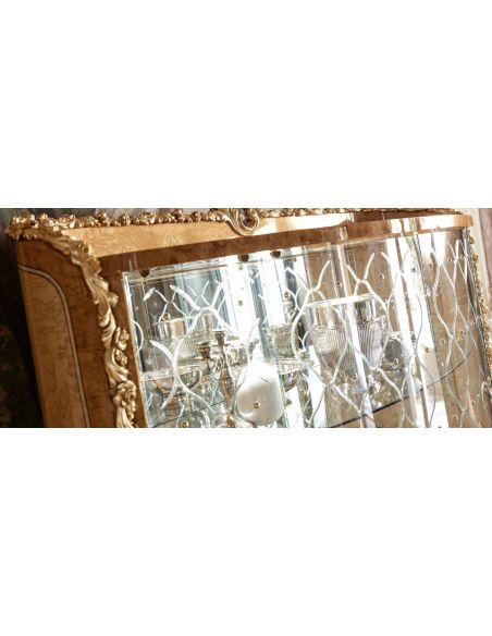 Breakfronts & China Cabinets Glass Paneled Display Cabinet from our exclusive empire collection