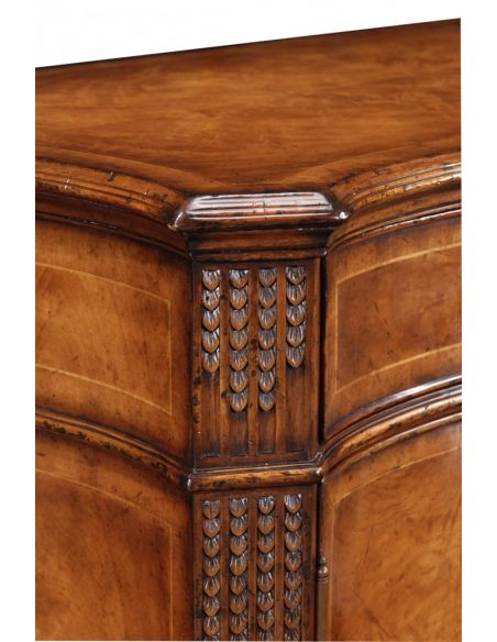 Breakfronts & China Cabinets Chest Of Drawers Crotch Walnut Sideboard