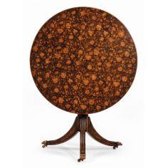 Dining Tables Furniture Floral Pedestal Table