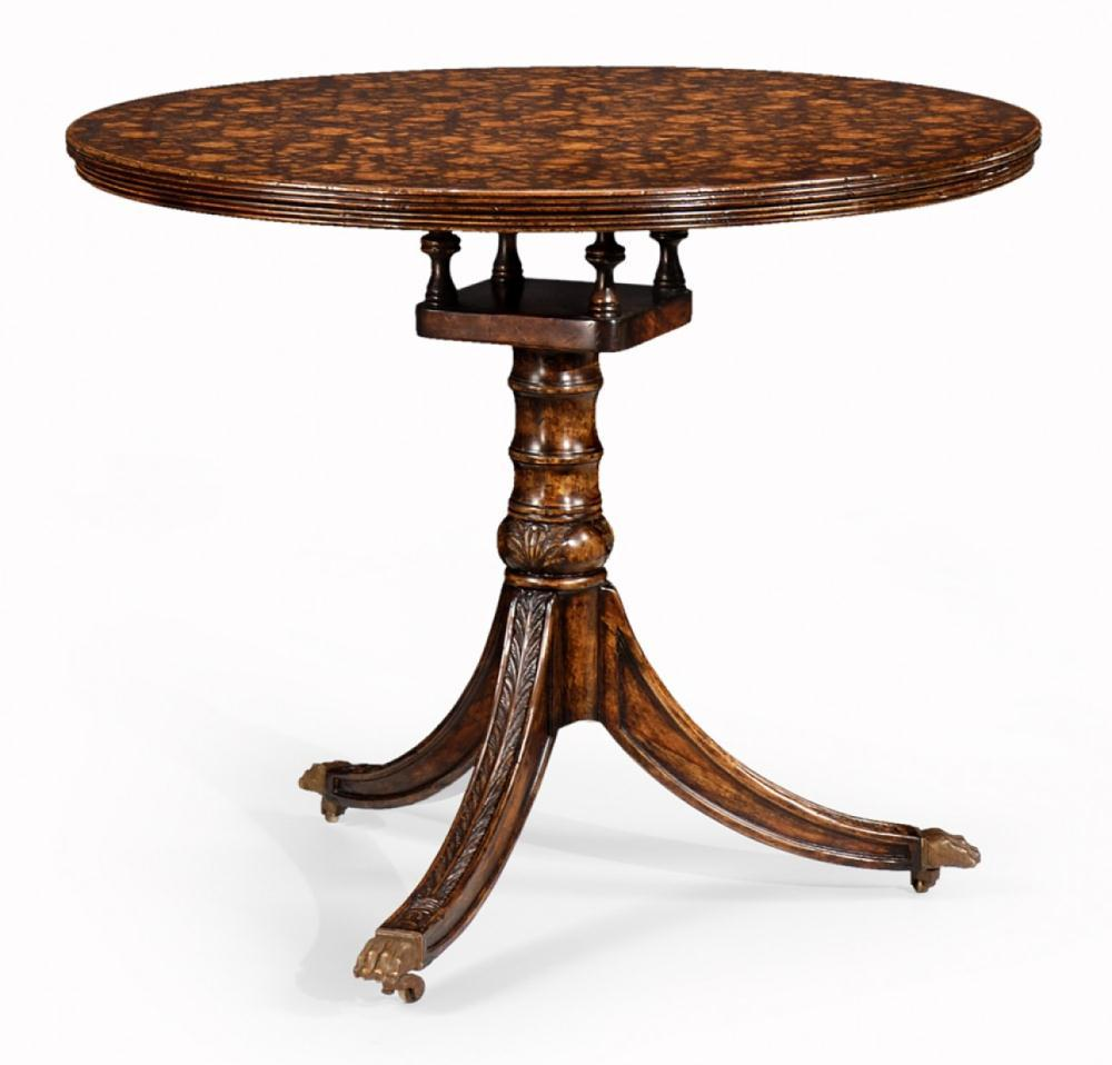 Dining Tables Furniture Floral Pedestal Table