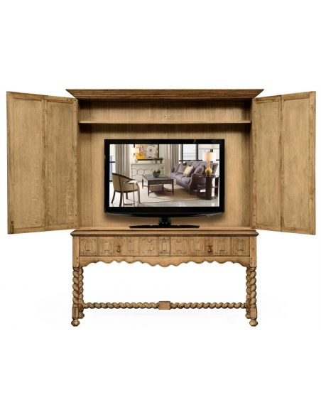 Entertainment Centers, TV Consoles, Pop Ups Natural oak TV cabinet