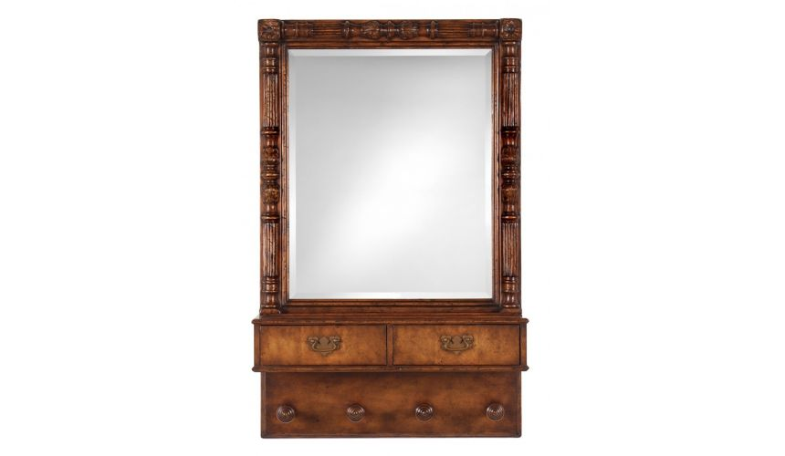 Foyer Center Tables Console Table Walnut Mirror