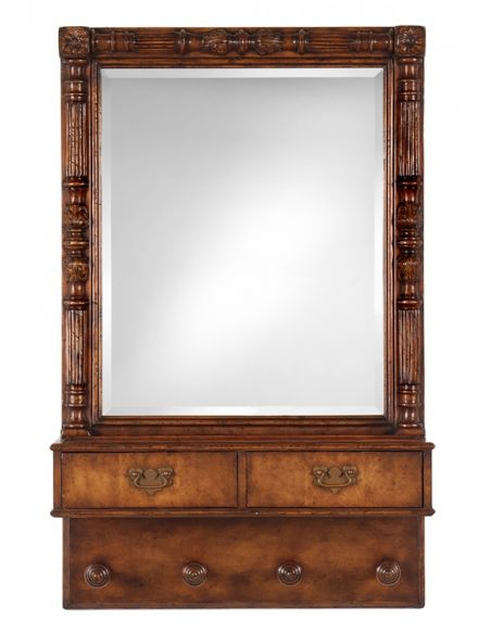 Foyer and Center Tables Foyer Center Tables Console Table Walnut Mirror