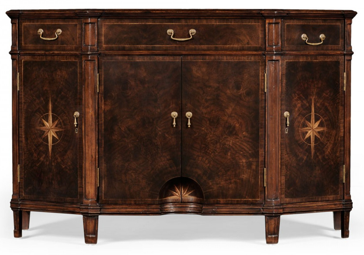 DINING ROOM FURNITURE Dark Walnut Wood Side Cabinet 81