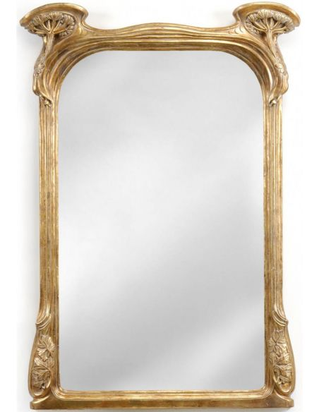 Gilded Mirror in Art Nouveau style