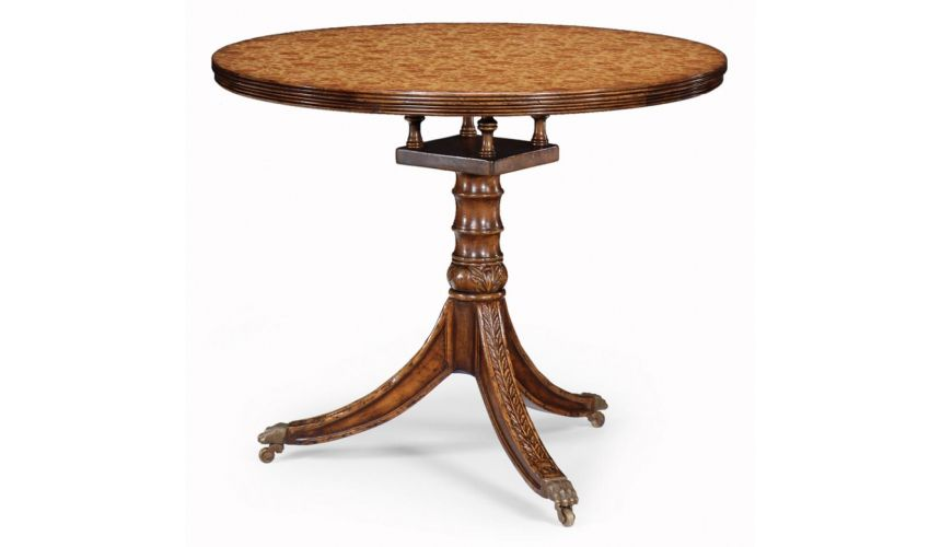 Round & Oval Side Tables High Quality Furniture Padestal Table In Brown