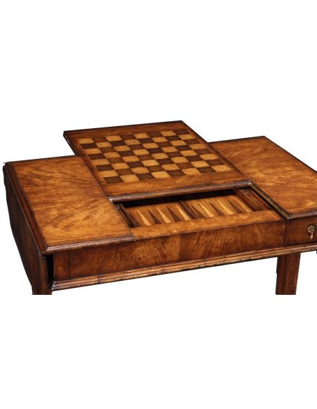 Game And Card Crotch Walnut Game Table