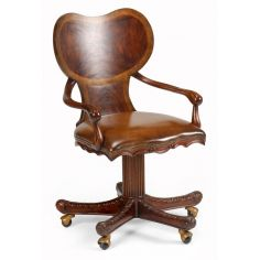 Home Office Furniture Chair In Mahogany