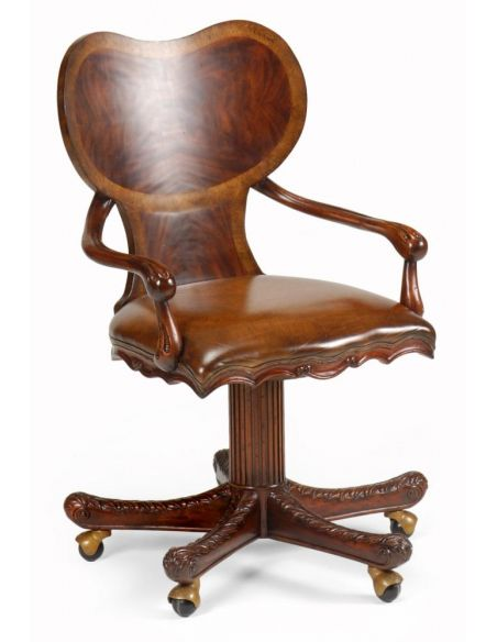 Office Chairs Home Office Furniture Chair In Mahogany