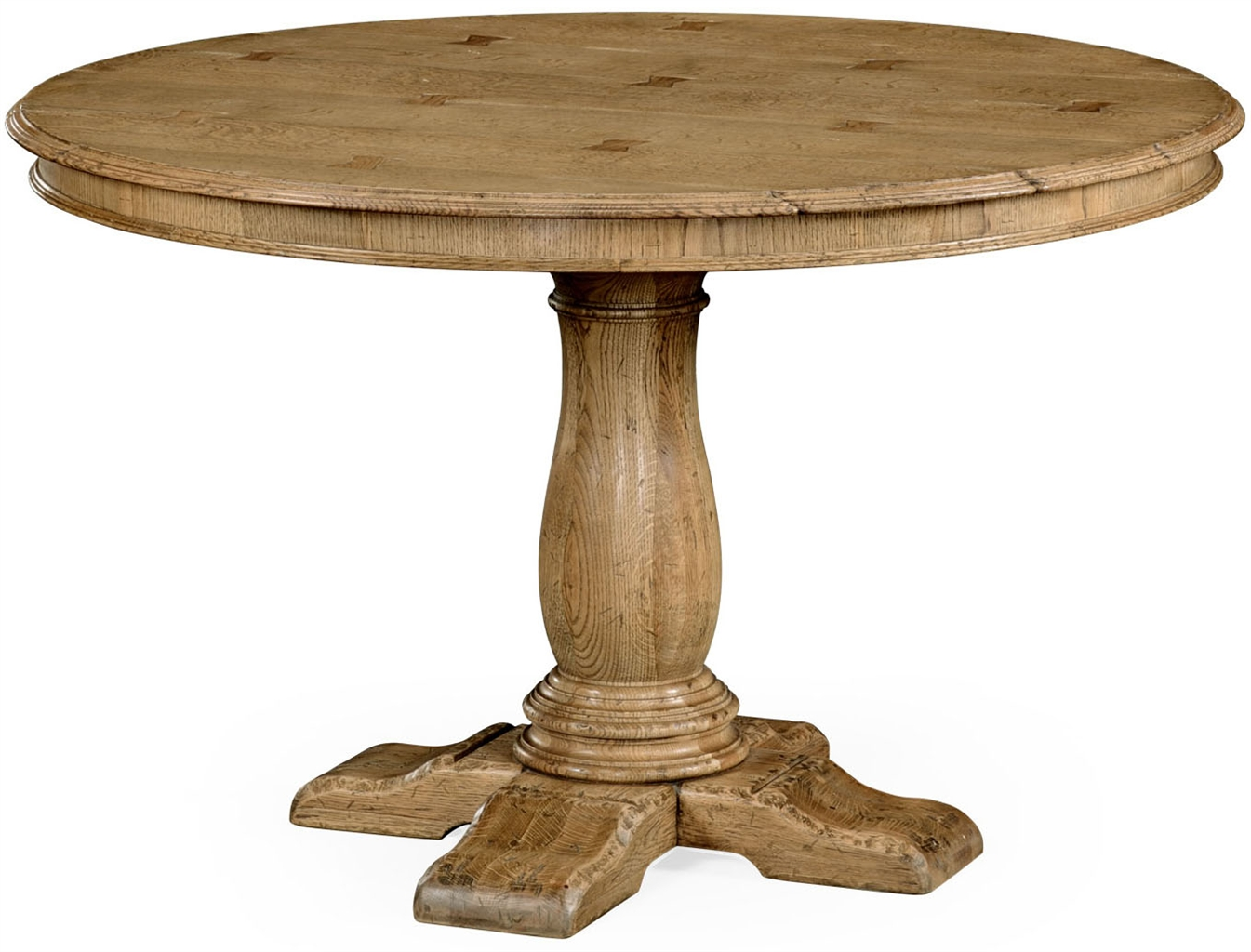 Light oak pedestal dining table for On the dining table