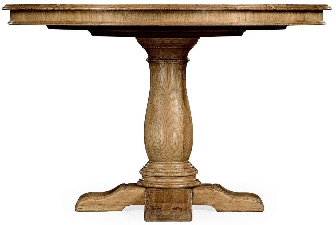 Light oak pedestal dining table for Pedestal dining table