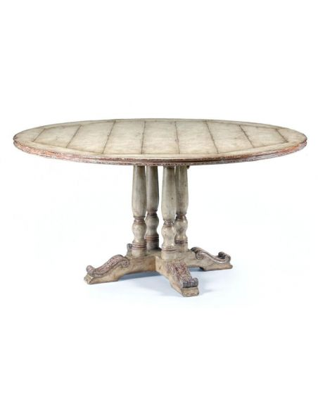 "Dining Tables Furniture High Painted Round Dining Table (60\"")"