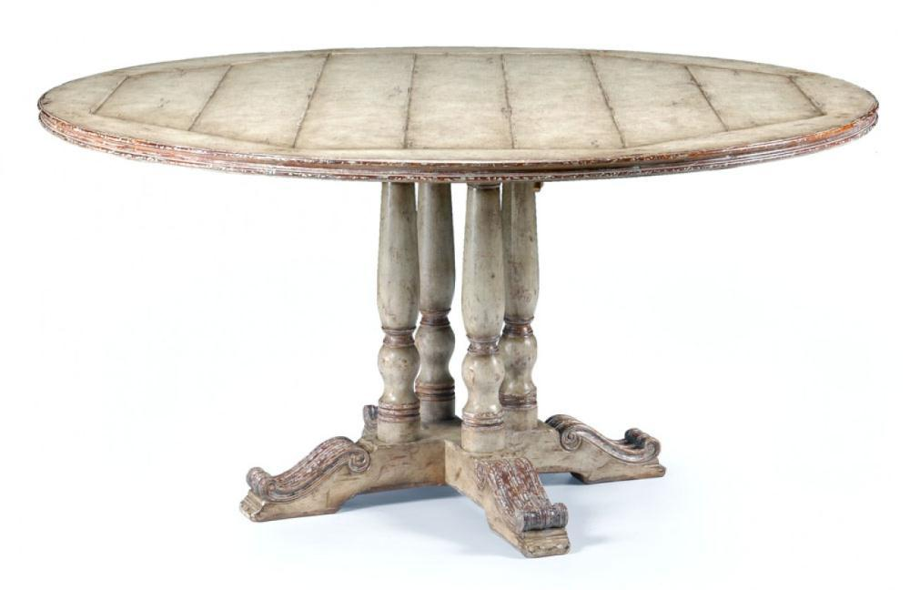 """furniture high painted round dining table (60\"""")"""