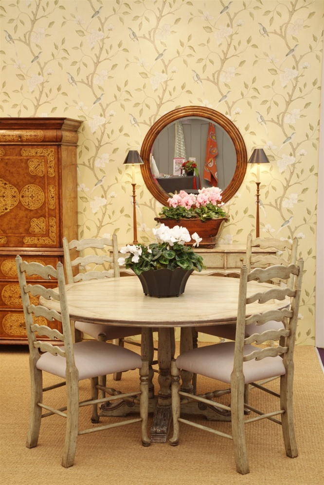 Furniture high painted round dining table 60 for Painted round dining table and chairs