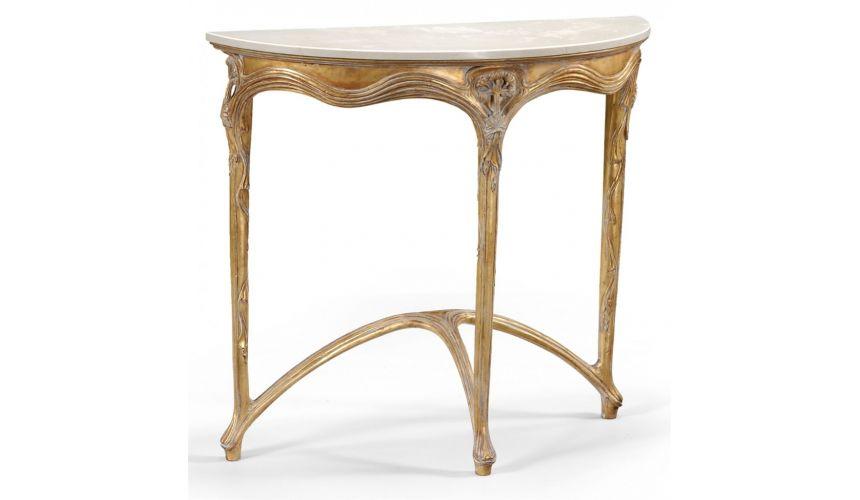Art Nouveau style Demilune Console Table-65