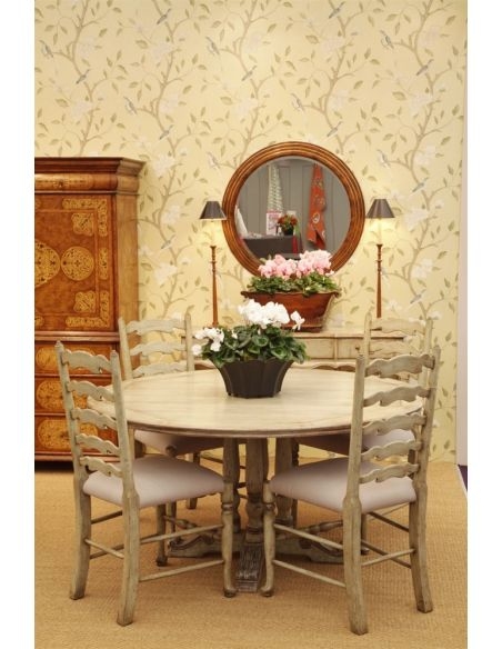 Dining Chairs Dining Table furniture High Painted Ladder Back Side Chair