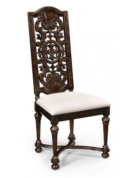 Dining Chairs Dining Table furniture High Carved Oak Arm Chair