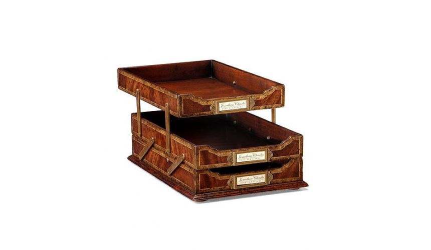Decorative Accessories Home Accessories Mahogany Letter Tray