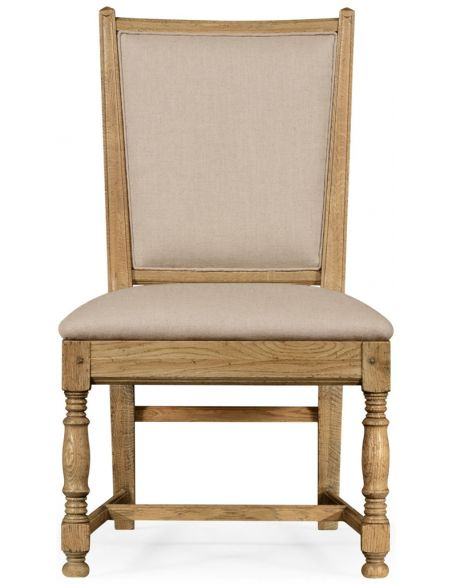 Dining Chairs Light oak side chair in country style