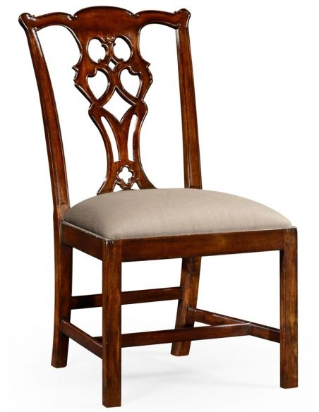 Dining Chairs High End Dinning Side Chair in Mahogany