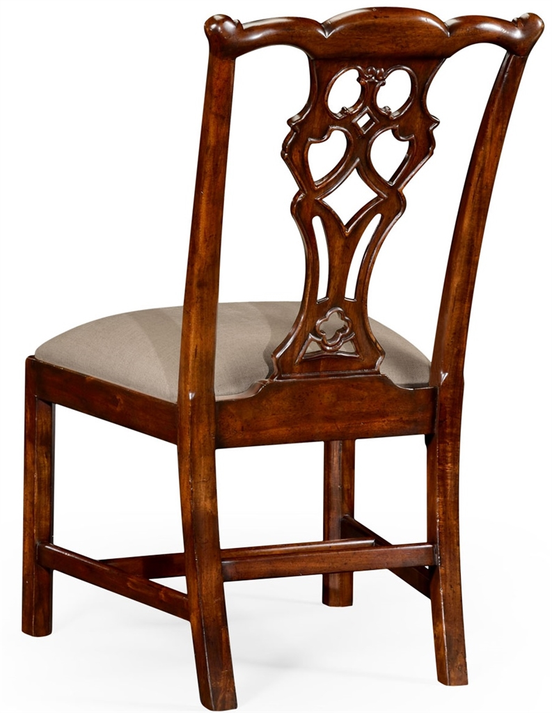 High end dinning side chair in mahogany for Mahogany dining room chairs