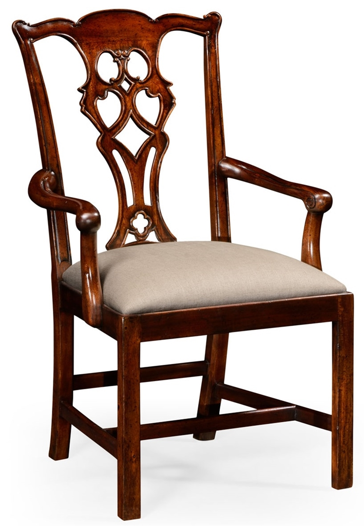 High end dinning arm chair in mahogany for Dining room end chairs