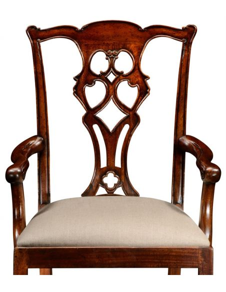Dining Chairs High End Dinning Arm Chair in Mahogany
